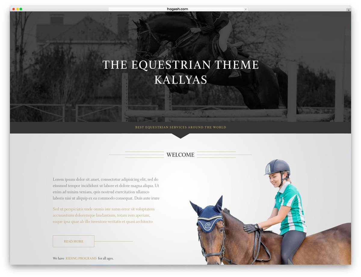 Equestrian - Free PSD Website Template