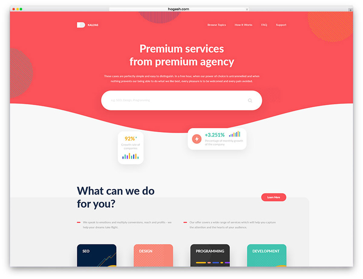 Services Agency Free PSD Website Template