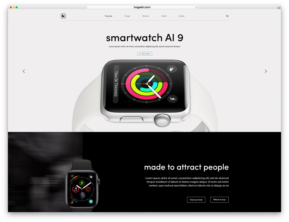 SmartWatch Store - Free PSD Website Template