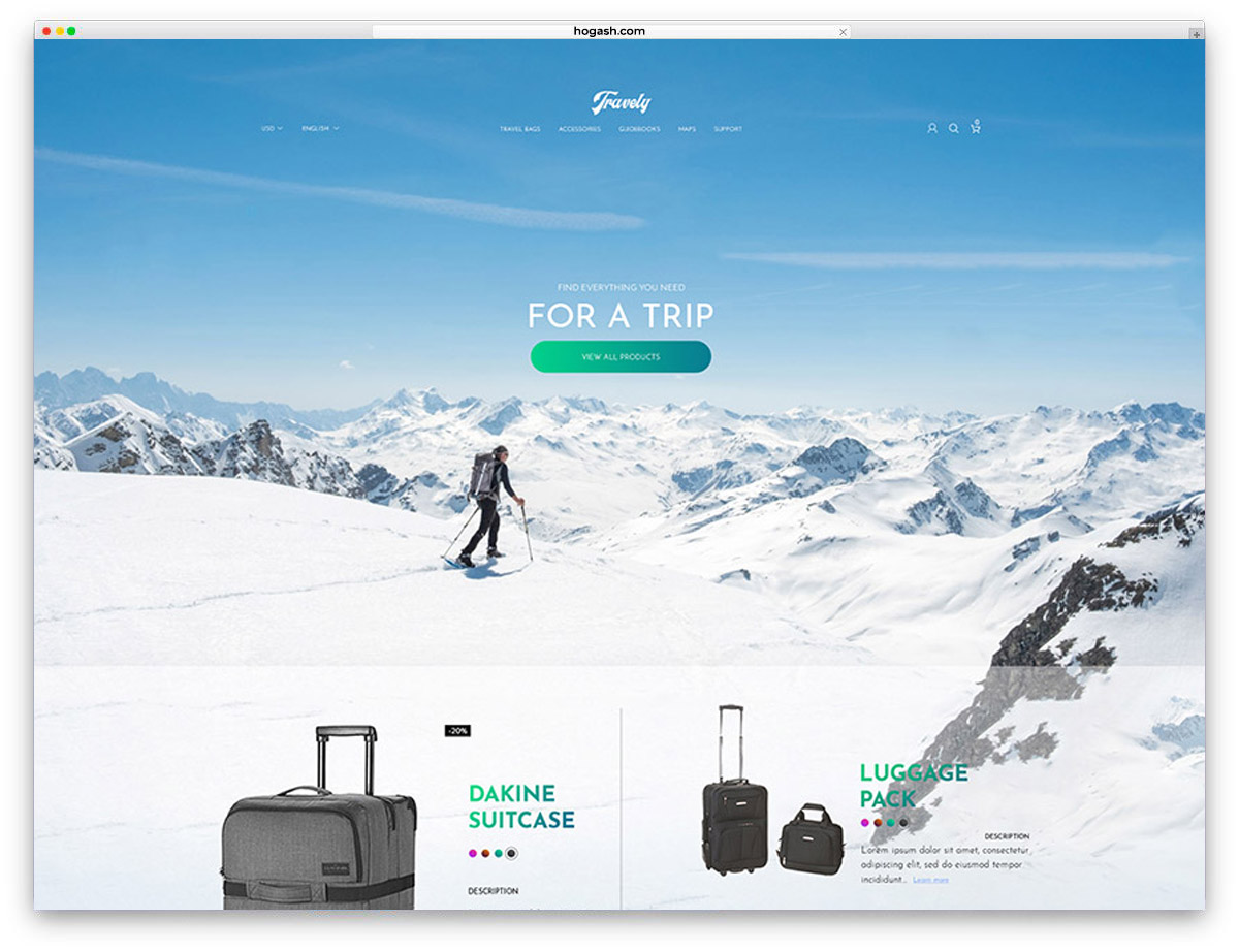 Travely Free PSD Website Template