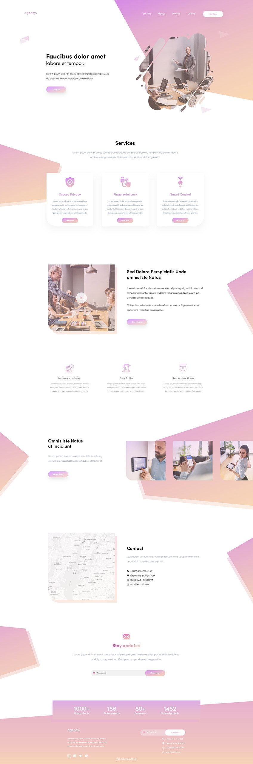 Creative Agency - Free PSD Template