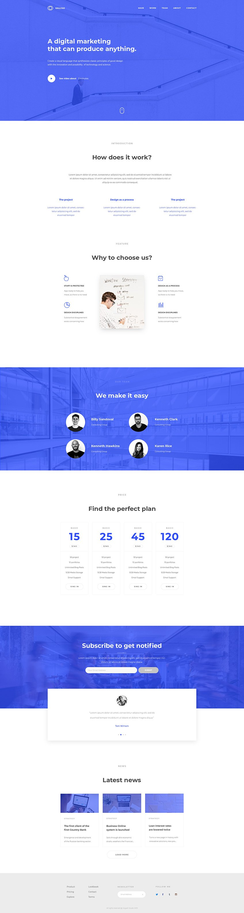 Multi-Purpose Agency - Free PSD Template