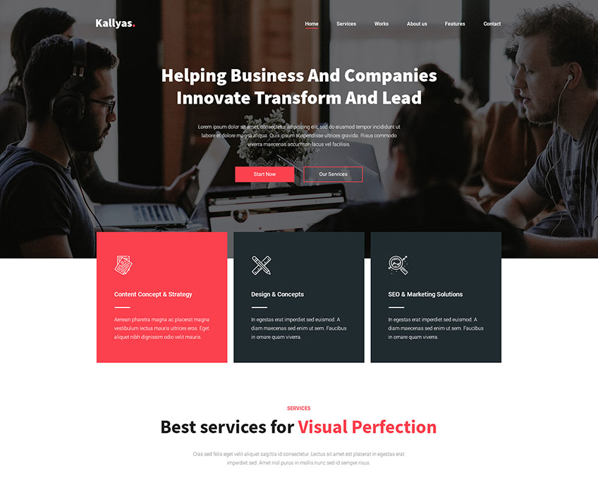 Business Agency Free PSD Template