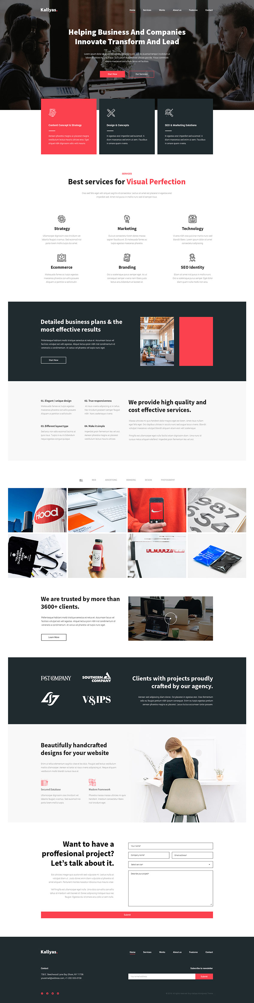Business Agency - Free PSD Template