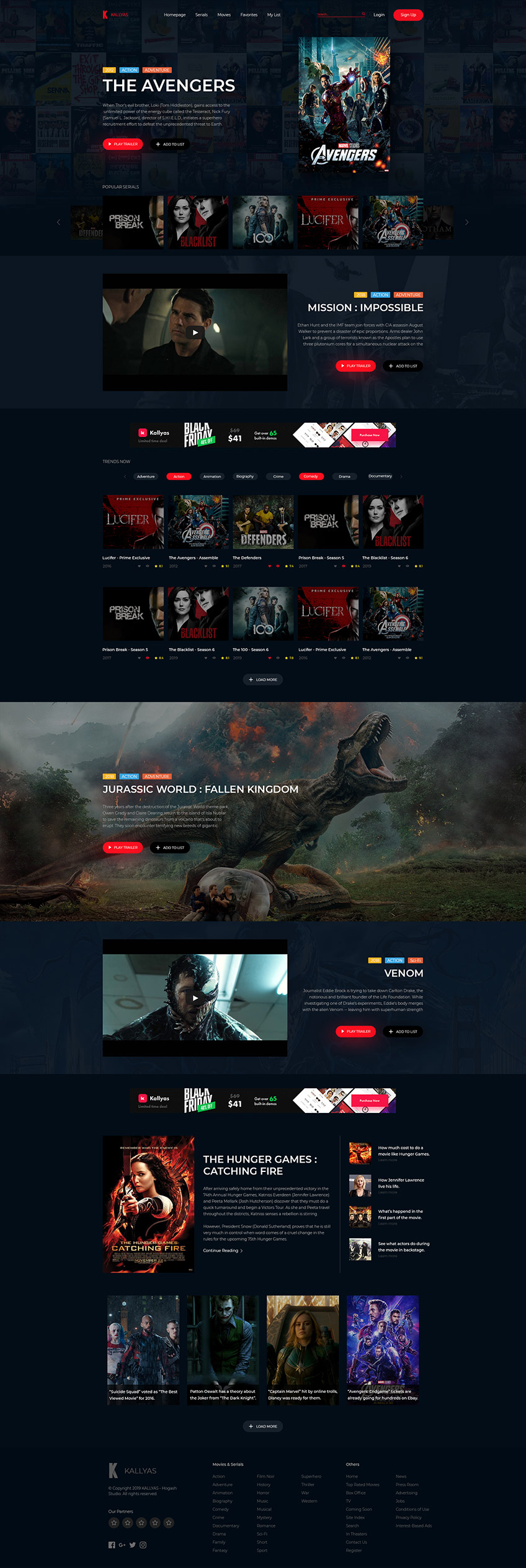 Movie Presentation Free PSD Template