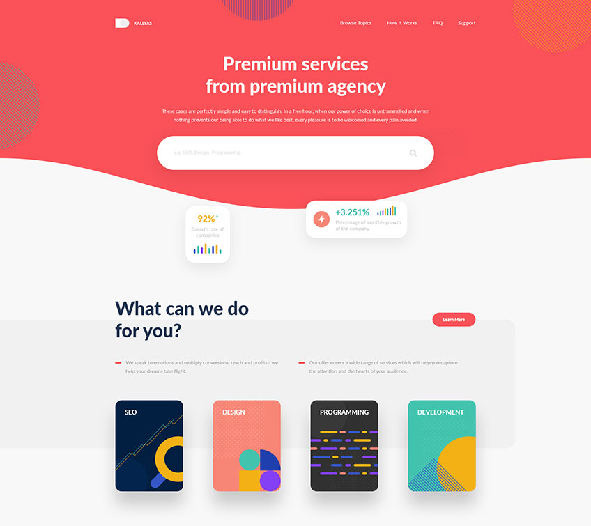 Services Agency Free PSD Template