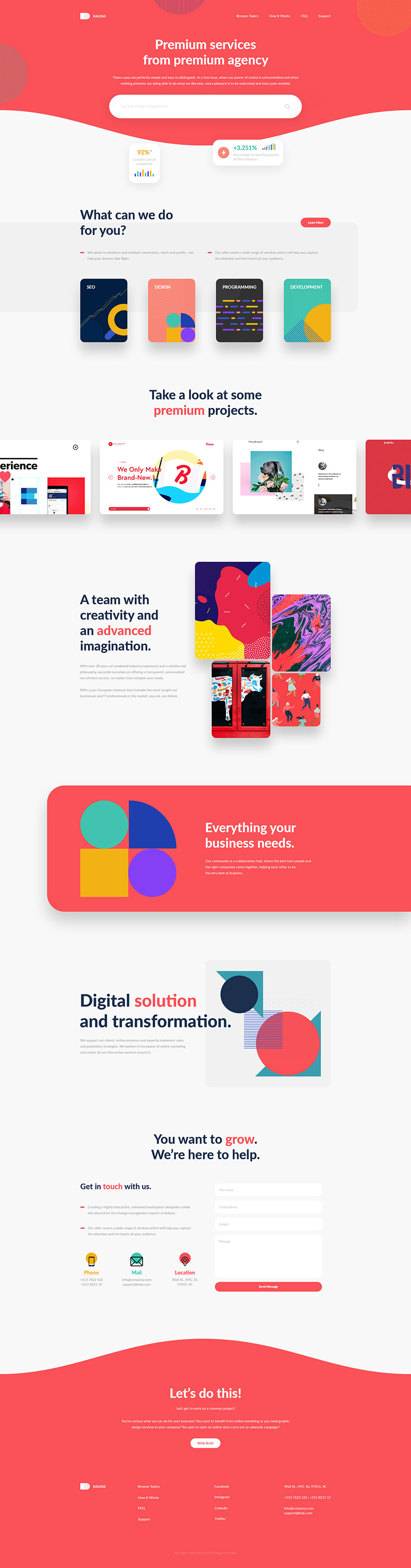 Services Agency - Free PSD Template