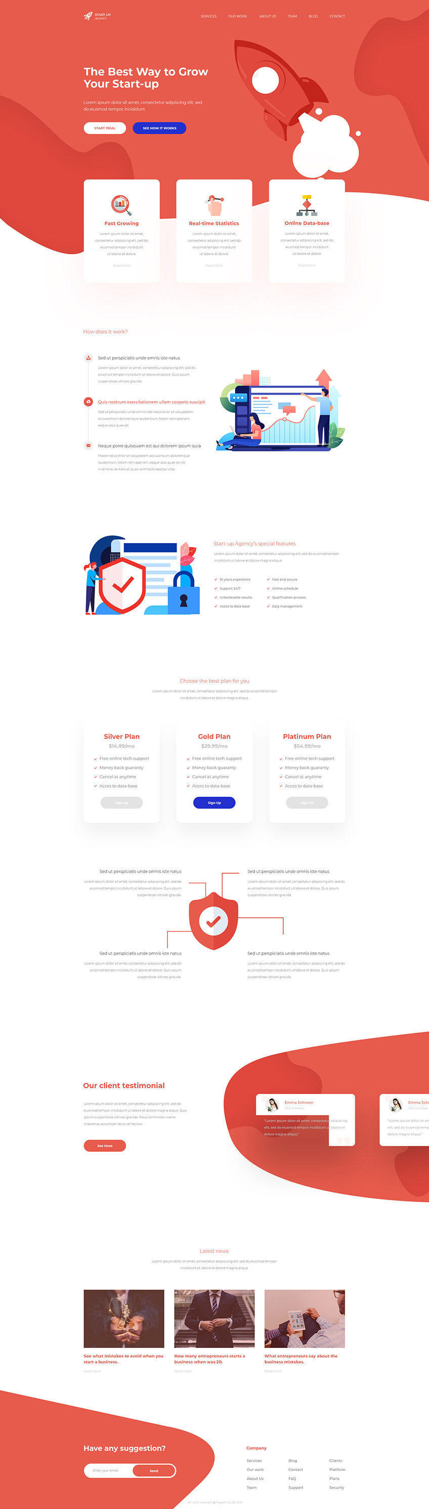 Start-up Agency - Free PSD Template