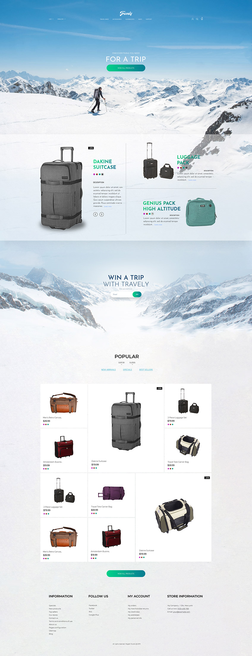 Travely Free PSD Template