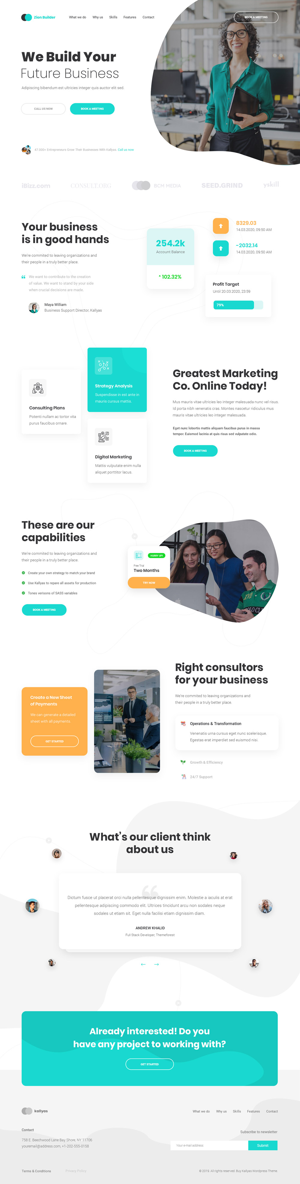 Consulting Agency V2- Free PSD Template
