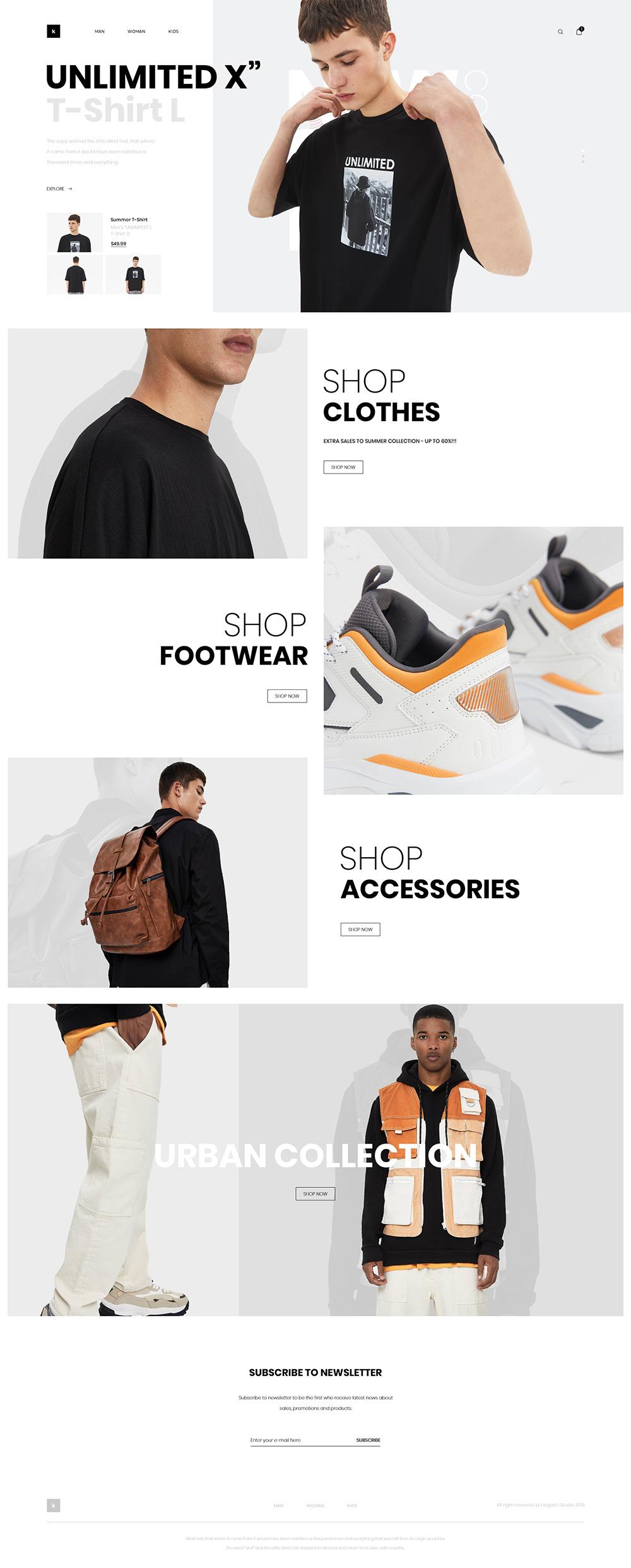 Fashion Shop Free PSD Template