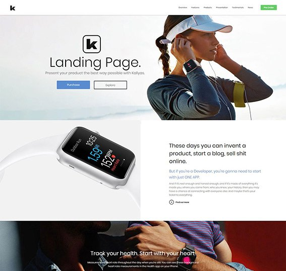App Landiang Page PSD Template