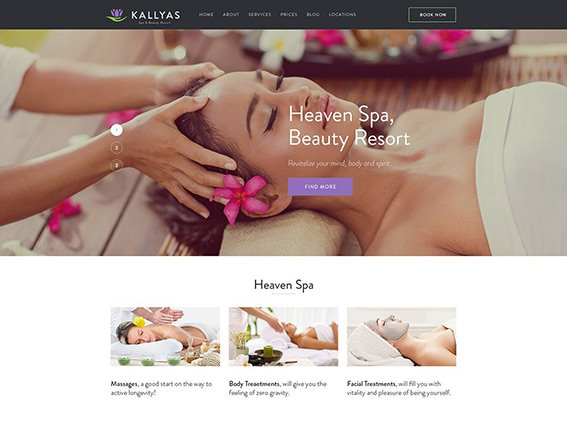 Beauty Spa - Free PSD Template