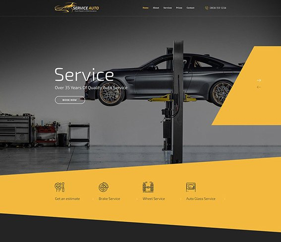 Car Service - Free PSD Template