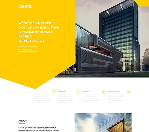 Construction v2 - Free PSD Template