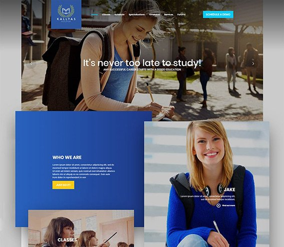 Education - Free PSD Template