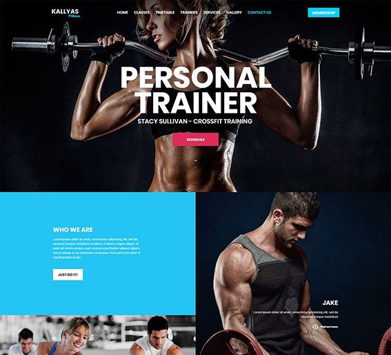 Fitness - Free PSD Template