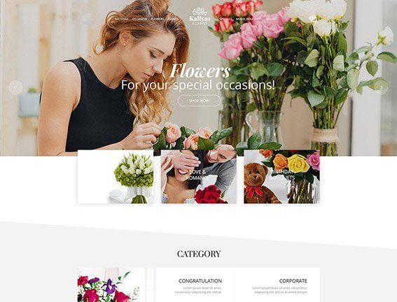 Florist Shop - Free PSD Template