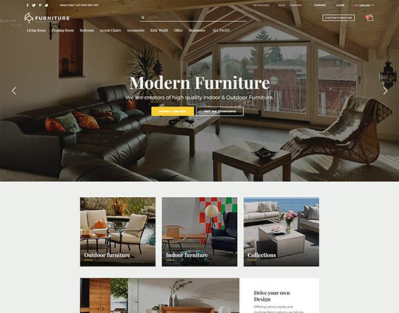 Furniture - Free PSD Template