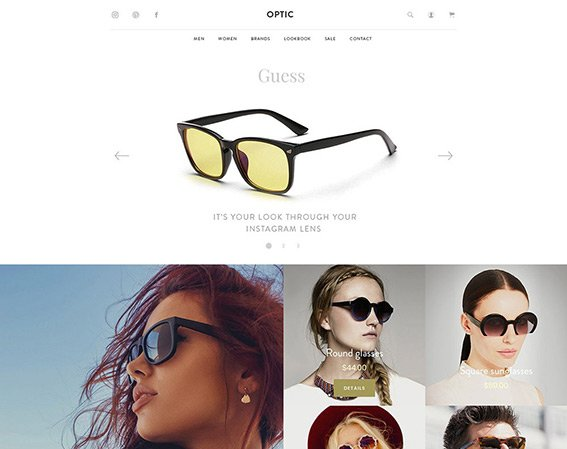 Glasses Store - Free PSD Template
