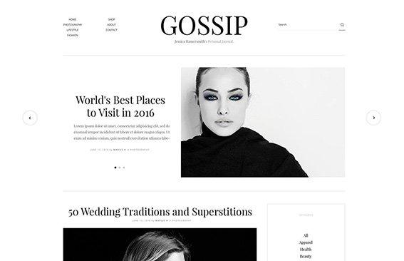 Gossip - Free PSD Template
