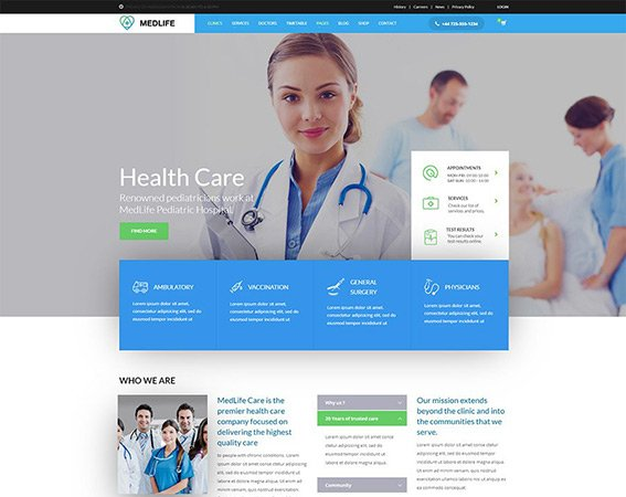 Health - Medical Clinic Free PSD Template