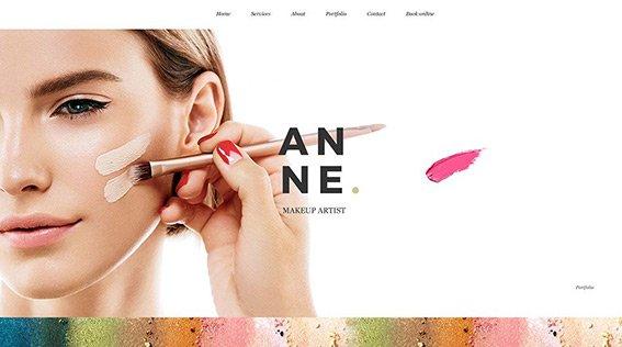 Makeup Artist - Free PSD Template