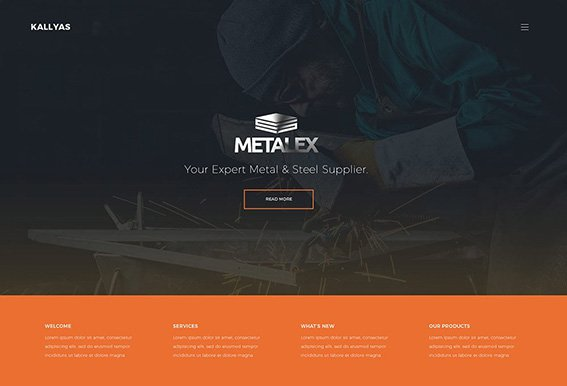 Metal Works - Free PSD Template