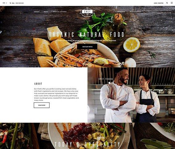 Restaurant - Free PSD Template