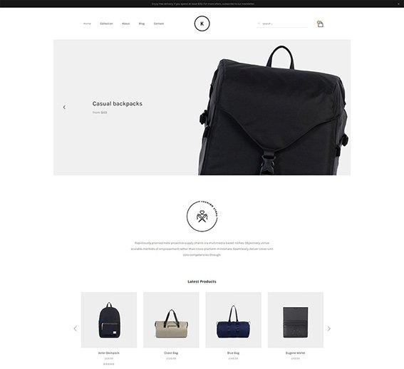 Store Minimal - Free PSD Template
