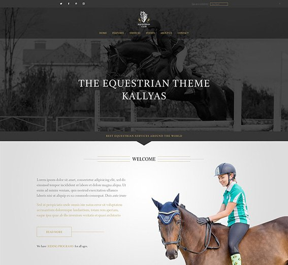 Equestrian - Free PSD Template