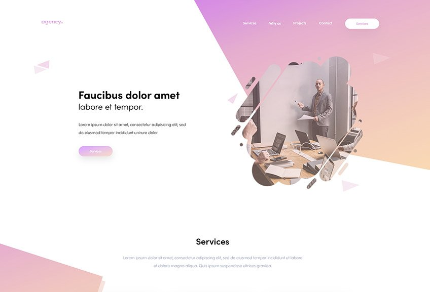 Creative Agency Free PSD Template