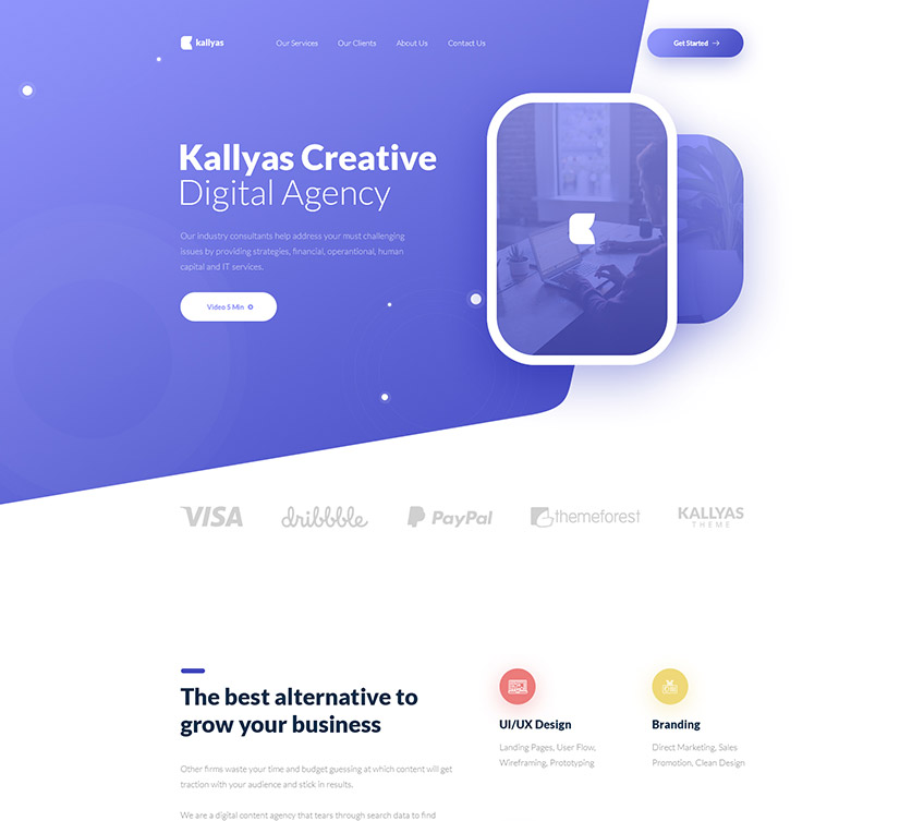 Digital Agency Free PSD Template