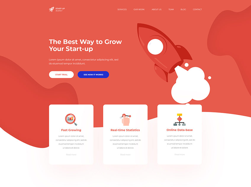 Start-up Agency Free PSD Template