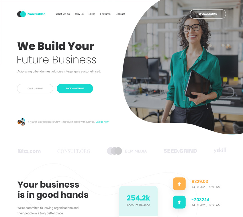 Consulting Agency V2 Free PSD Template