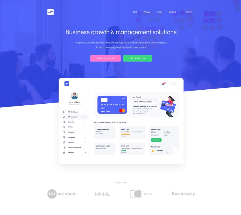 Startup Agency V2 Free PSD Template